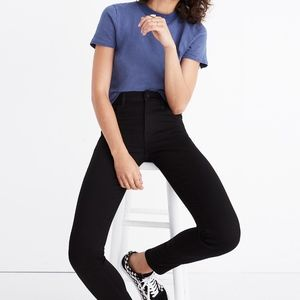 High-Waisted Black Jeans